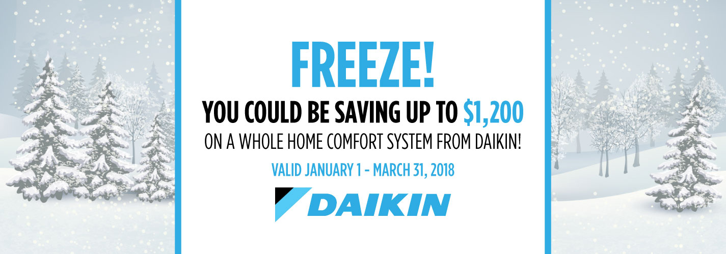 Daikin Winter Promotion Ottawa